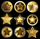 Set Of Military Gold Stars
