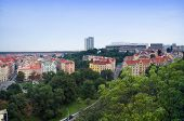 Prague city view from Vysehrad