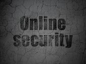 Security concept: Online Security on grunge wall background