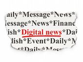 News concept: Digital News on Paper background