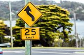 pic of beep  - Road sign of the maximum speed limitation in the urban zone - JPG