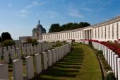 picture of tyne  - picture of some of the graves at Tyne cot Belgium - JPG