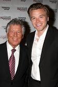 LOS ANGELES - APR 11:  Mario Andretti, Brett Davern at the Long Beach Grand Prix Foundation Gala at