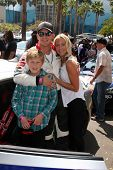 LOS ANGELES - APR 12:  Cole Hauser, son, Cynthia Daniel at the Long Beach Grand Prix Pro/Celeb Race