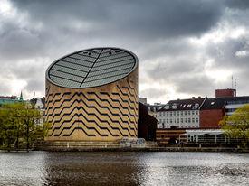 pic of planetarium  - The modern planetarium in Copenhagen in Denmark - JPG