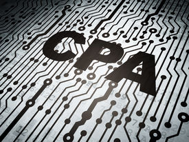 stock photo of cpa  - Finance concept - JPG