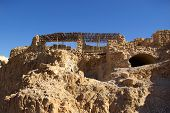 picture of zealots  - Ruins of ancient judaic Masada fortress Israel - JPG