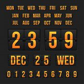 pic of countdown timer  - Vector countdown timer and date - JPG