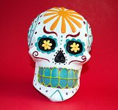 image of day dead skull  - The Sugar Skull is used to celebrate the the Day of the Dead - JPG