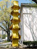 image of metal sculpture  - Metal sculpture on 18th Street in Washington DC USA  - JPG