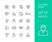 picture of stroking  - Outline icons thin flat design - JPG