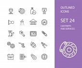 pic of stroking  - Outline icons thin flat design - JPG