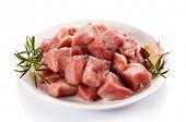 pic of turkey-hen  - Raw turkey meat on white background - JPG