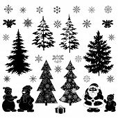 stock photo of fir  - Christmas cartoon - JPG