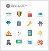 image of virus scan  - Pixel perfect flat icons set of various security objects information and data protection system safety access elements - JPG