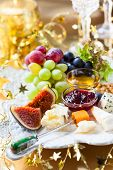 picture of cheese platter  - Cheese platter for Christmas - JPG