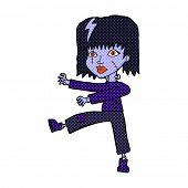 stock photo of undead  - retro comic book style cartoon undead girl - JPG