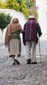stock photo of pueblo  - Old couple of man and woman - JPG