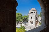 picture of filerimos  - Church of our Lady at Ialyssos monastery on the Greek island of Rhodes - JPG