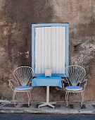 pic of greek-architecture  - Quiet place to relax in the Greek town Kokkari - JPG