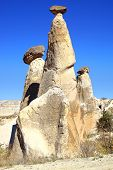 picture of chimney rock  - Picturesque landscape with Fairy chimneys Cappadocia in Turkey - JPG