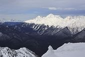 picture of olympic mountains  - Beautiful snow - JPG