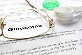 stock photo of  eyes  - Paper with word   glaucoma - JPG