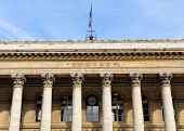 The Bourse, Paris stock exchange in France poster