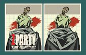 pic of zombie  - Vector party Poster - JPG