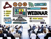pic of seminar  - Webinar Online Seminar Global Conmmunications Concept - JPG