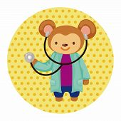 picture of cartoons  - Animal Monkey Doctor Cartoon Theme Elements - JPG