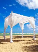 picture of altar  - Wedding altar on caribbean beach in Dominican Republic - JPG