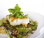 image of cod  - Cod Fish Fillets With Rice and Peas - JPG
