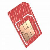 pic of micro-sim  - Sim Card Illustration - JPG