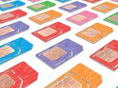 image of micro-sim  - Background of Sim Cards Illustration - JPG