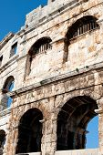pic of arena  - Roman Arena in Pula in Istria Republic of Croatia Europe - JPG