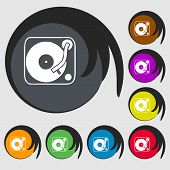 image of 8-track  - Gramophone vinyl icon sign - JPG
