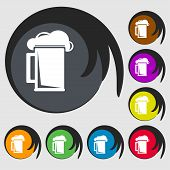 picture of guinness  - glass of beer icon sign - JPG