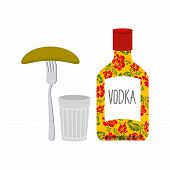 picture of vodka  - Vodka and glass - JPG