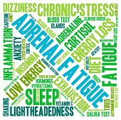 picture of neurotransmitter  - Adrenal fatigue word cloud on a white background - JPG