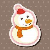 foto of snowman  - Snowman Cartoon Theme Elements - JPG