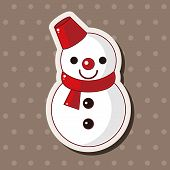 image of snowman  - Snowman Cartoon Theme Elements - JPG