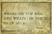 picture of rumi  - Wherever you are and whatever you do  - JPG