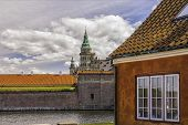 picture of hamlet  - Kronborg castle made famous by William Shakespeare in his play about Hamlet situated in the Danish harbour town of Helsingor - JPG