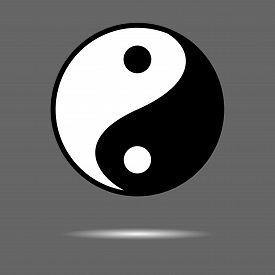 foto of taoism  - Yin Yang icon - JPG