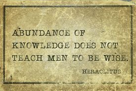 pic of wise  - Abundance of knowledge does not teach men to be wise  - JPG