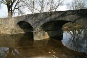 picture of stagecoach  - Stone bridge over Mansker Creek built for Stagecoach travel in Middle tennessee this bridge still carries auto traffic - JPG