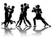Постер, плакат: мужчина и женщина танец на вечеринке