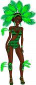 Carnival Green Girl poster