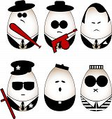 picture of truncheon  - Vector eggs figure  - JPG